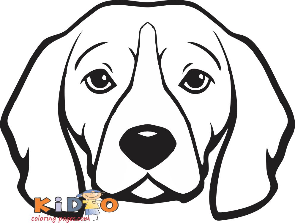 Beagle dog coloring pages for kids to print out