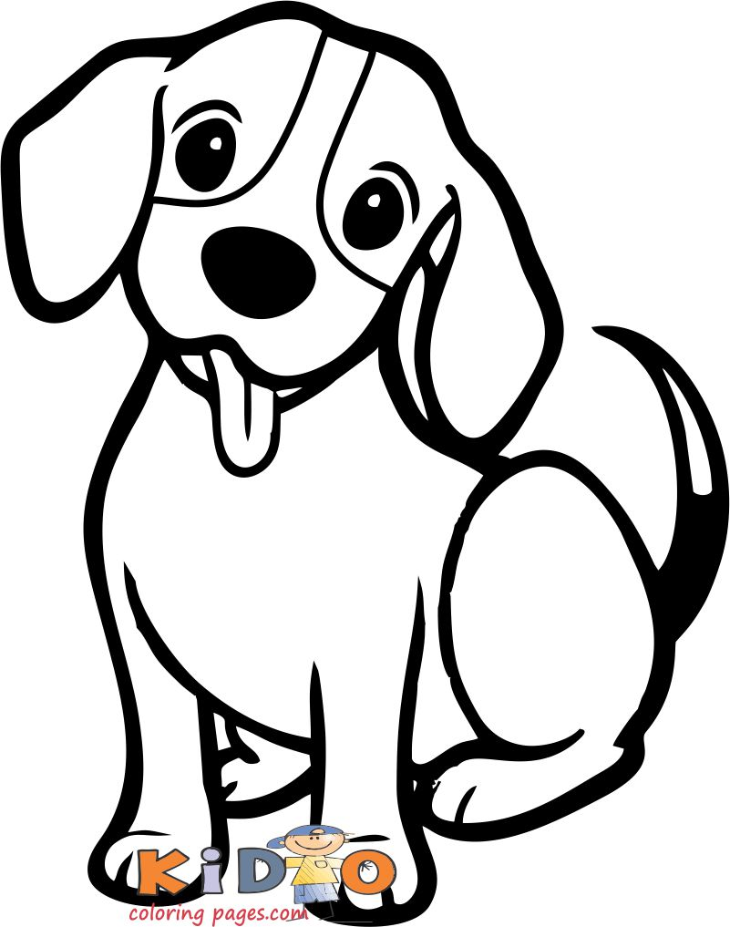 Cute dog beagle coloring pages print out