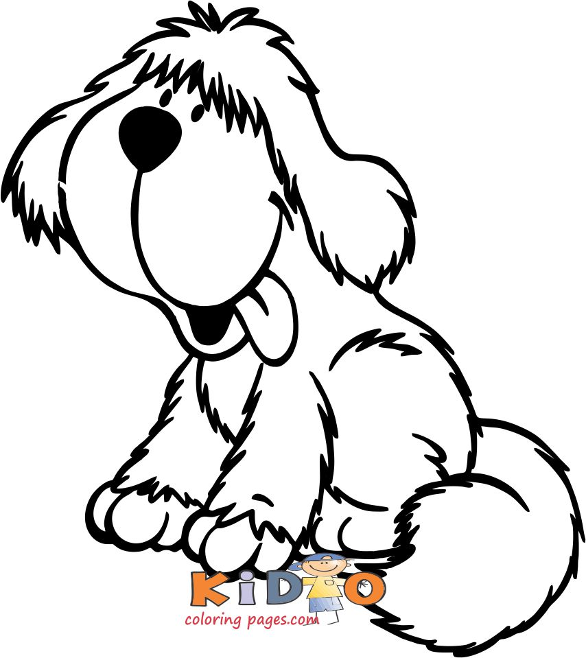 cute dog sheepdog coloring pages to print out for kids