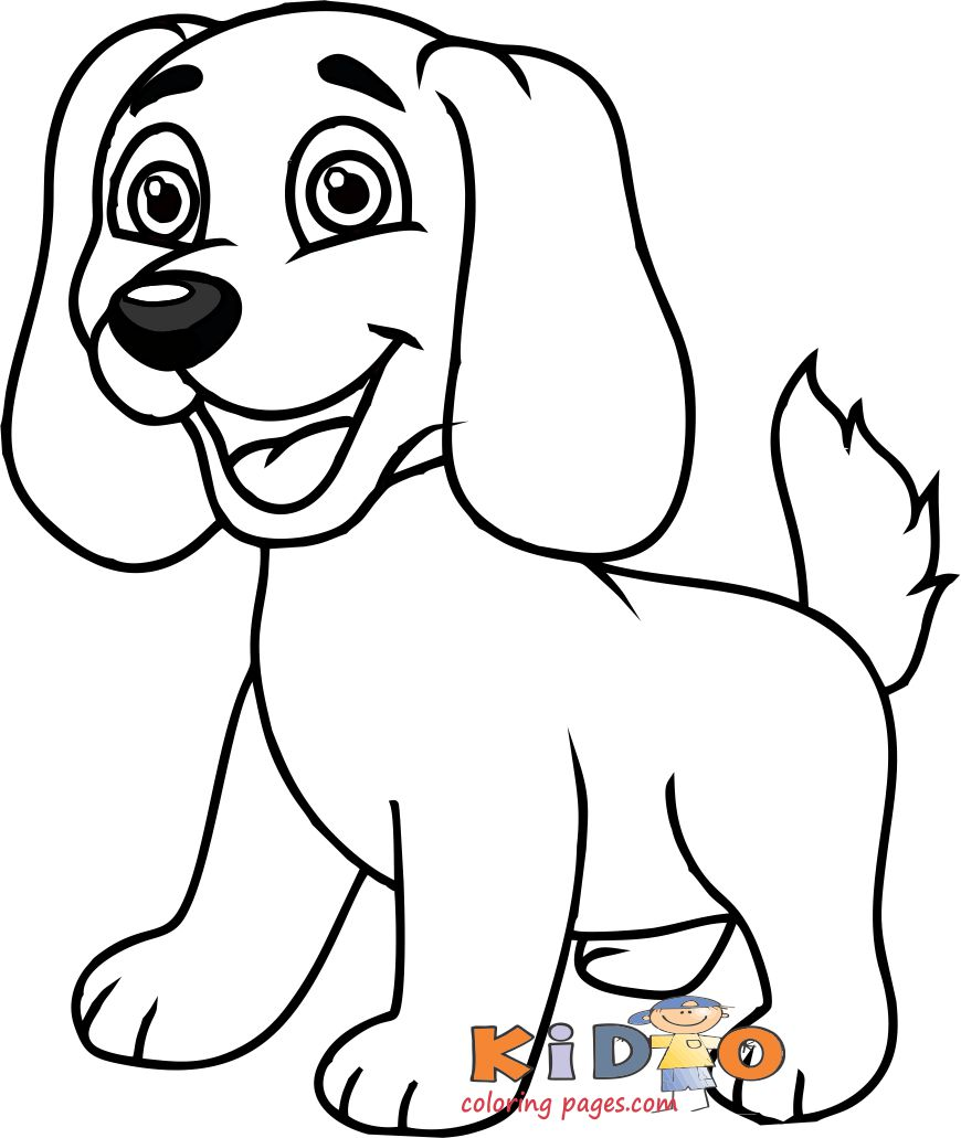 cute labrador puppy coloring pages for kids to printable