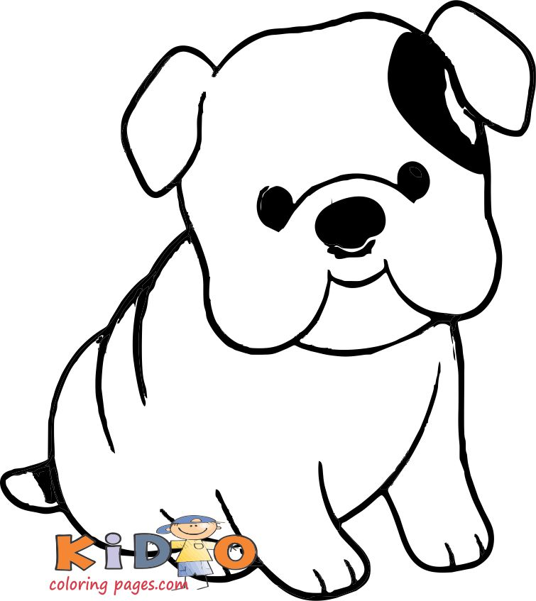 engelsk bulldog coloring pages to print out