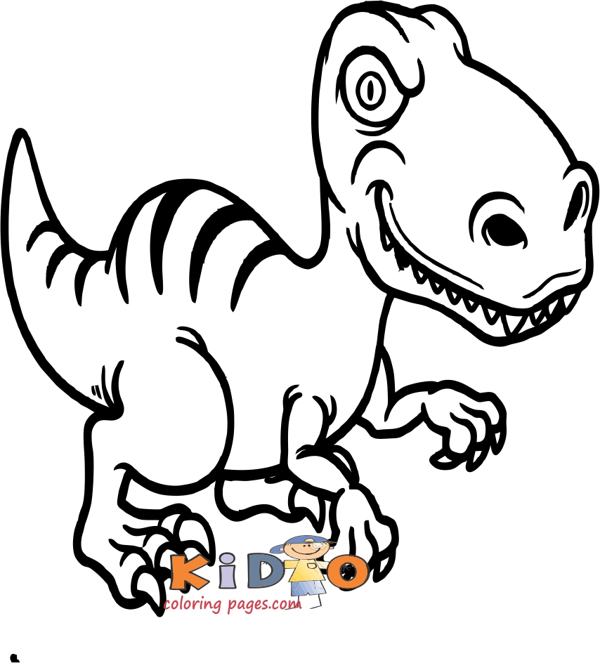 T Rex dinosaurs pictures to color for kids
