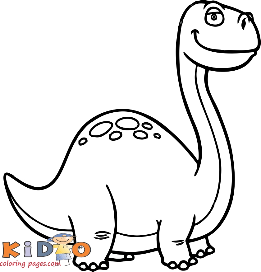 free coloring pages dinosaur brontosaurus for kids to print