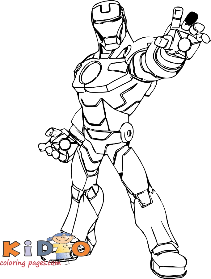 iron man coloring pages for kids printable.