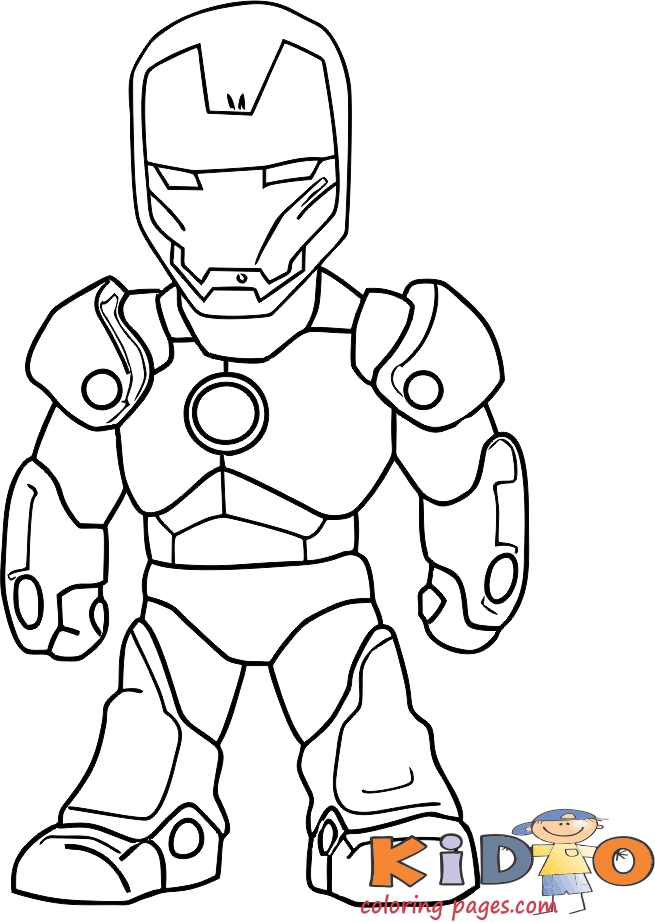 Pages to color iron man to print out