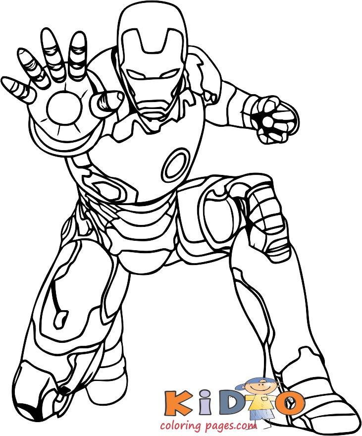 iron man free online kids coloring pages