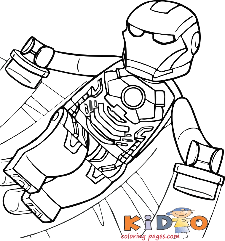lego coloring pages iron man to print