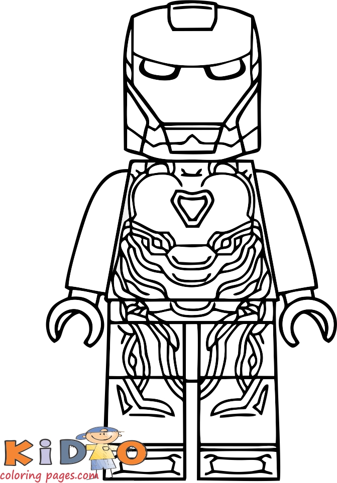 lego iron man coloring pages printable for kids