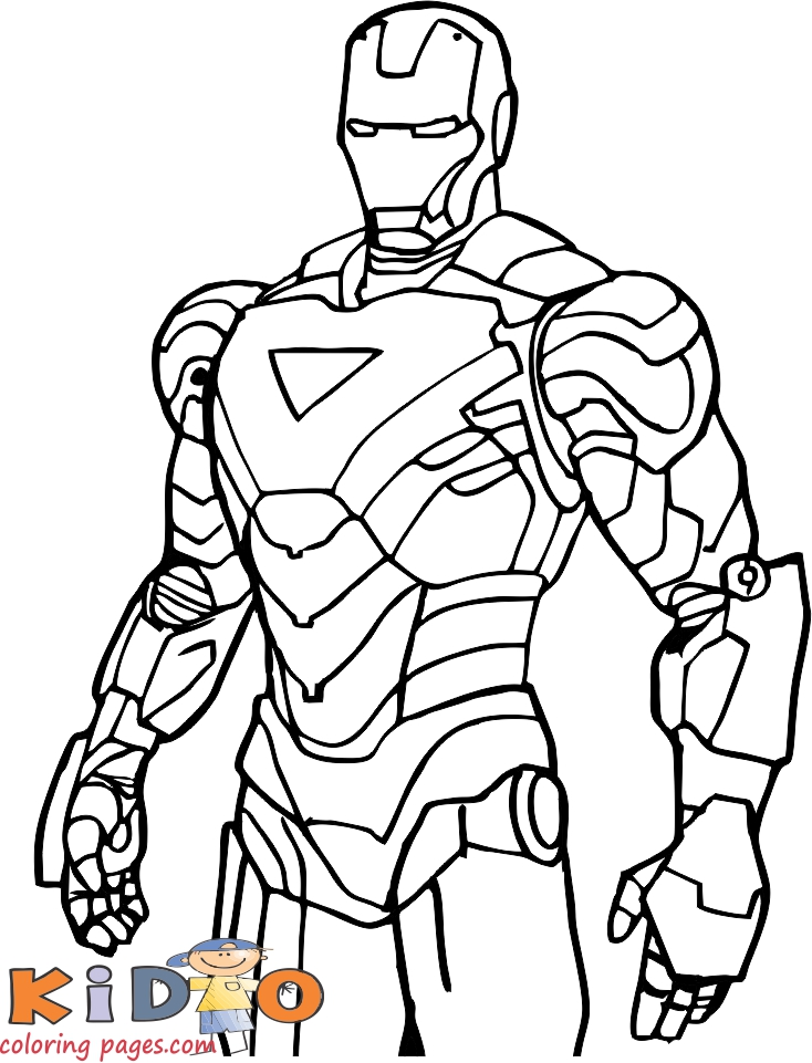 marvel iron man coloring pages to printable for kids