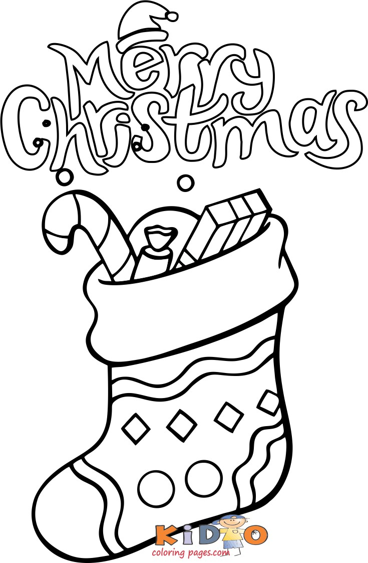 christmas stockings coloring sheets