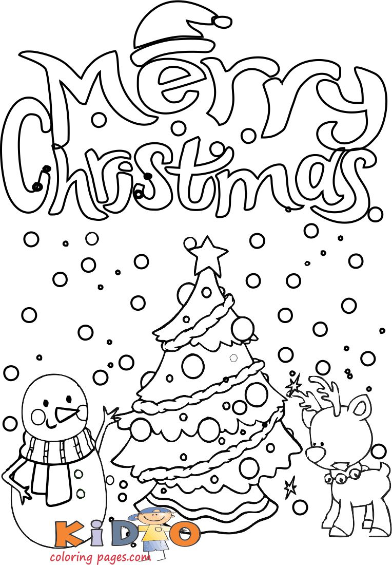 printable snowman reindeer christmas coloring pages kids to print out