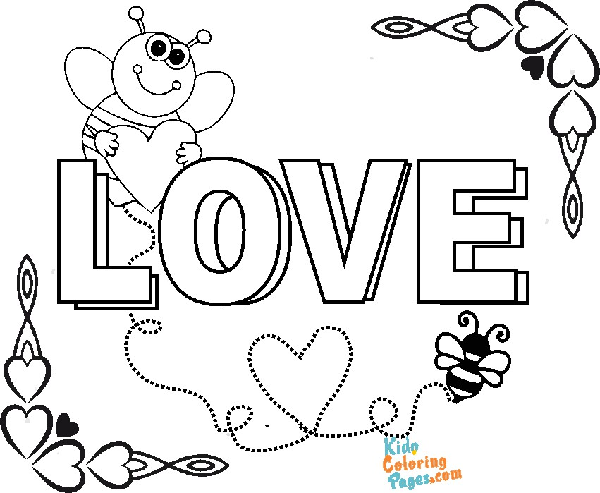Coloring pages valentines day cute printable