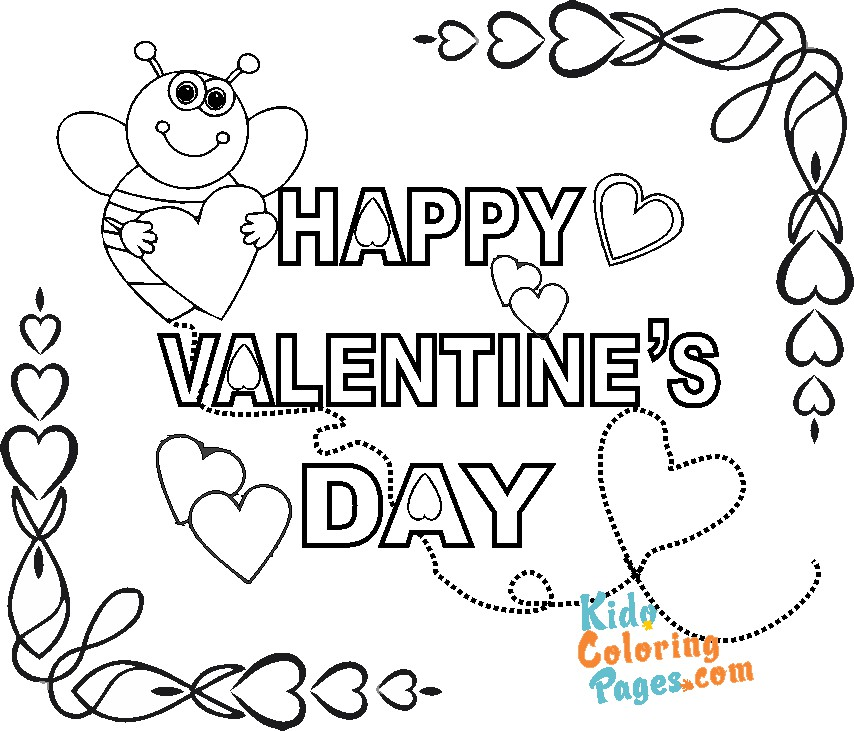 happy valentines day coloring sheets