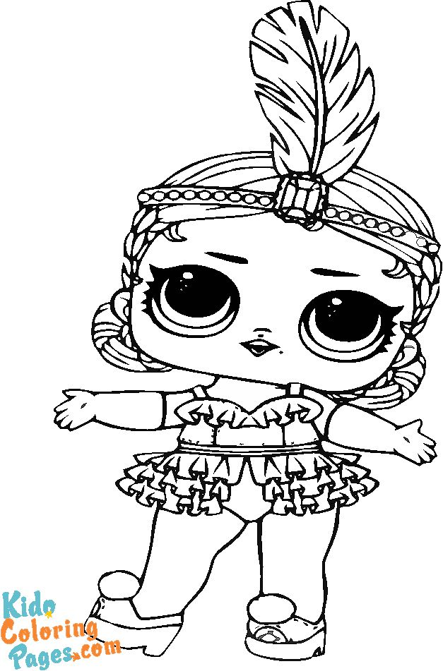 Showbaby lol doll coloring in pages for girls