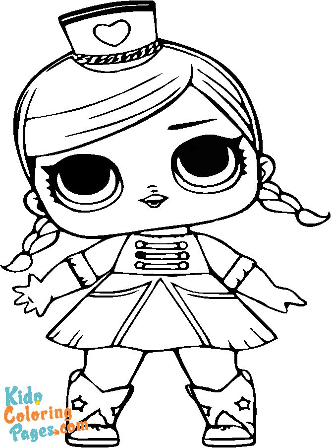 Cute LoL doll kids coloring pages