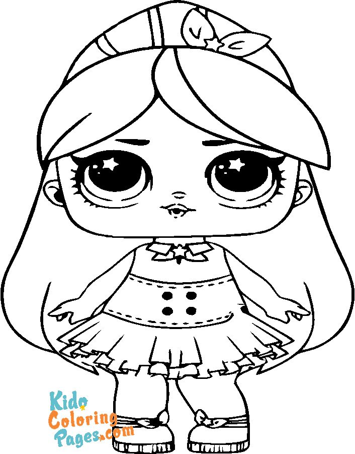 Cute lol doll princess coloring pages