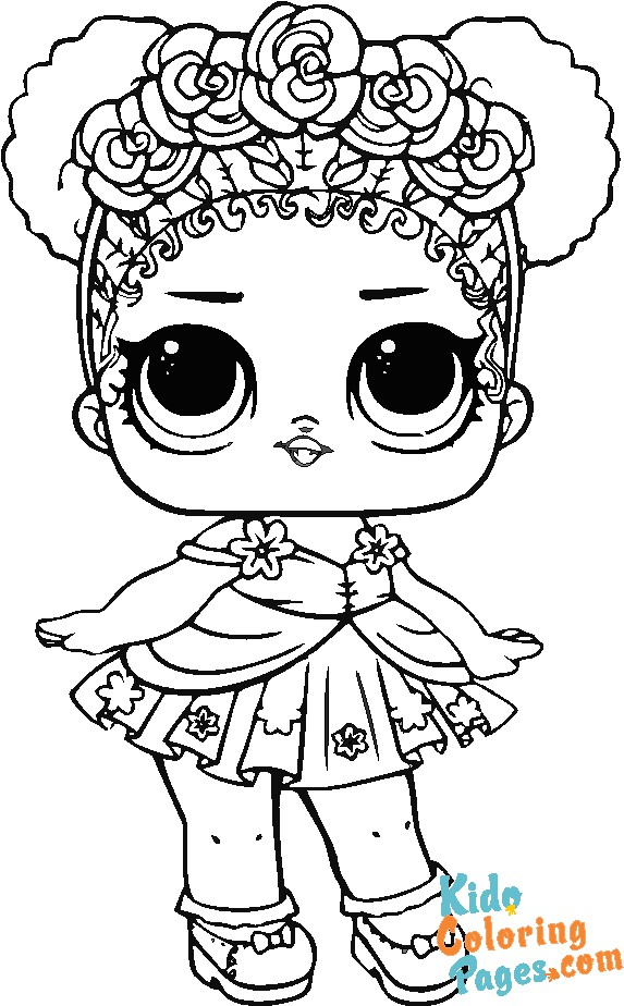 Kids coloring pages lol doll Surreal Bebe