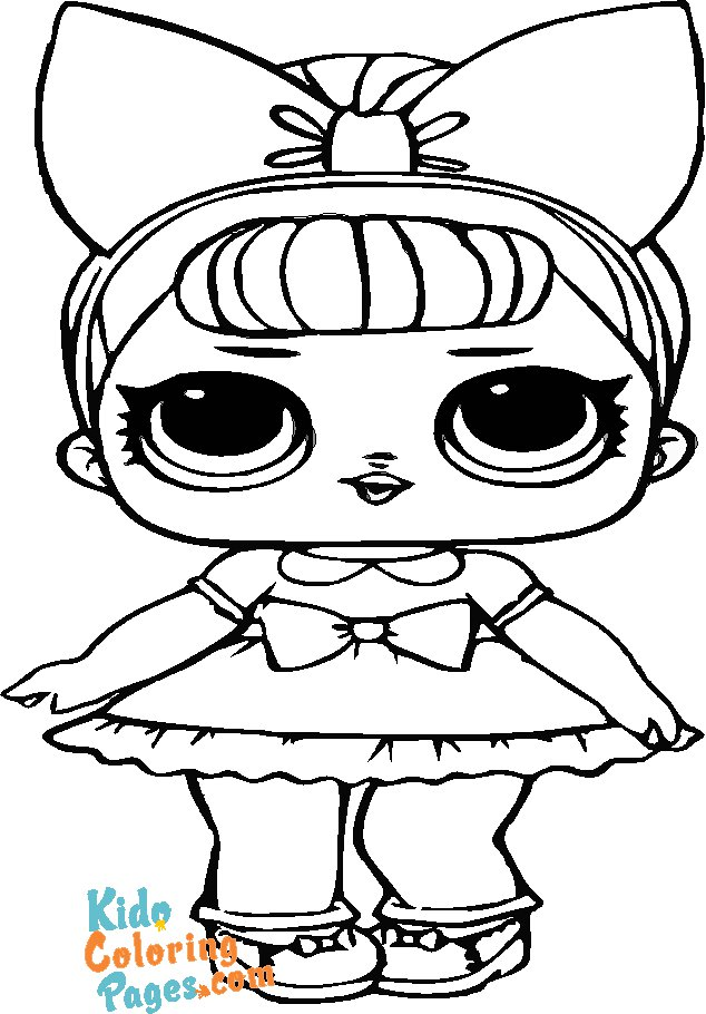 Pages to color lol surprise doll Fancy