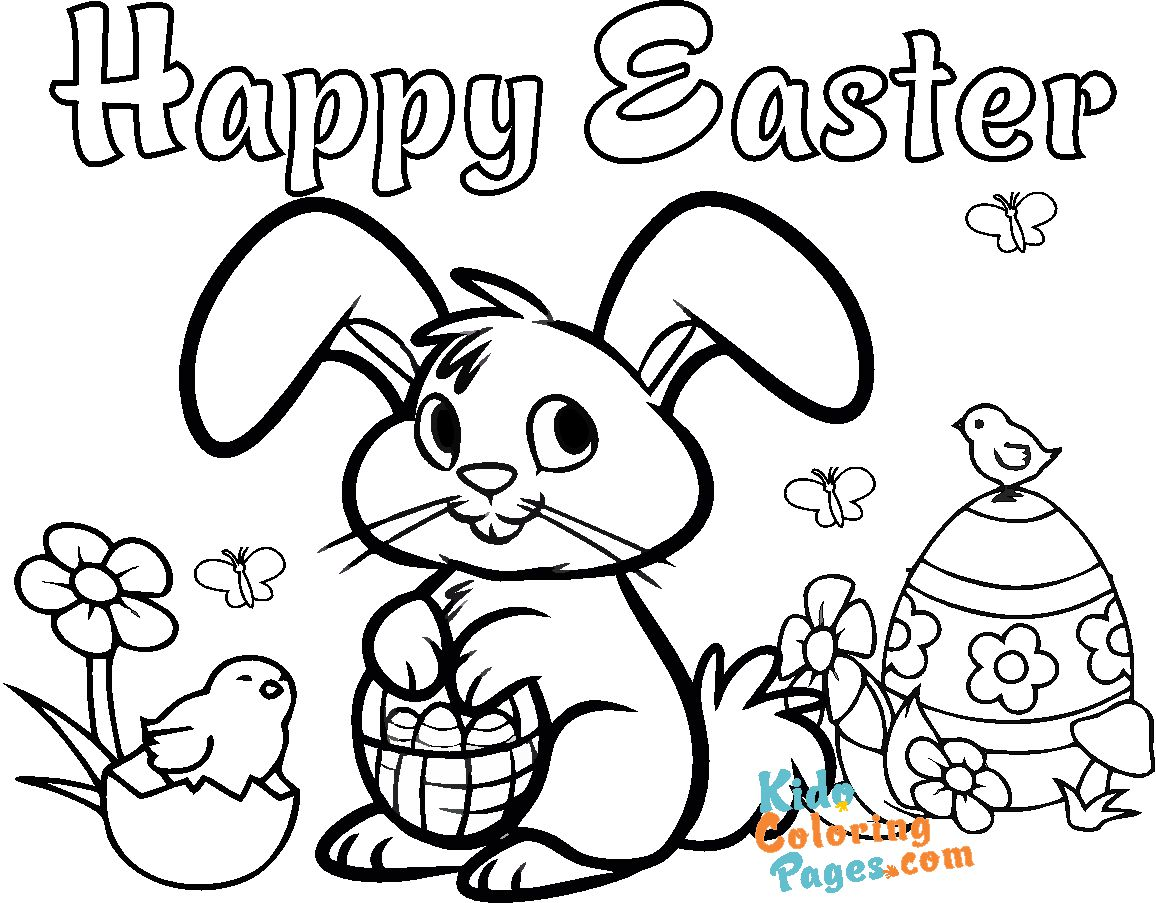 cute easter bunny pictures to color to printable