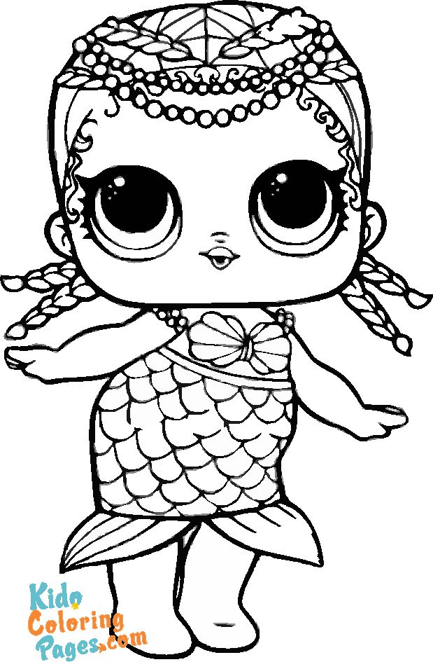 lol surprise doll mermaid coloring pages
