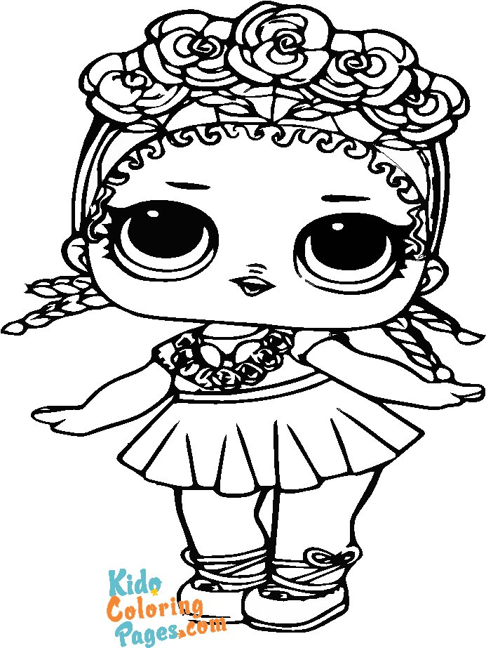 super bb lol doll coloring pages