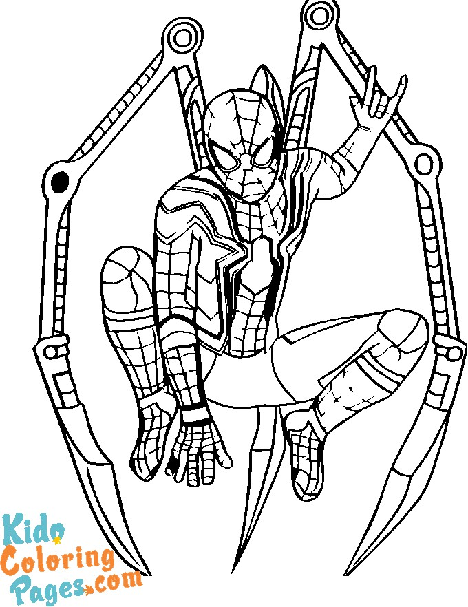 coloring book spiderman to print free
