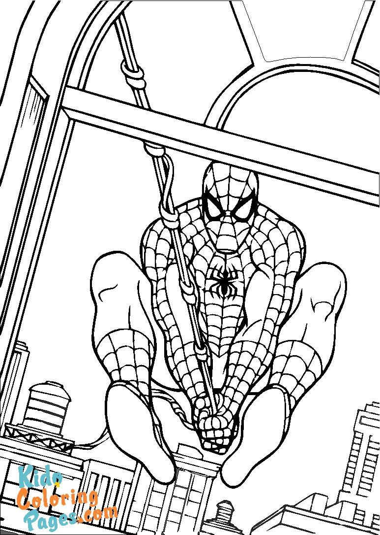 coloring book spiderman to print out