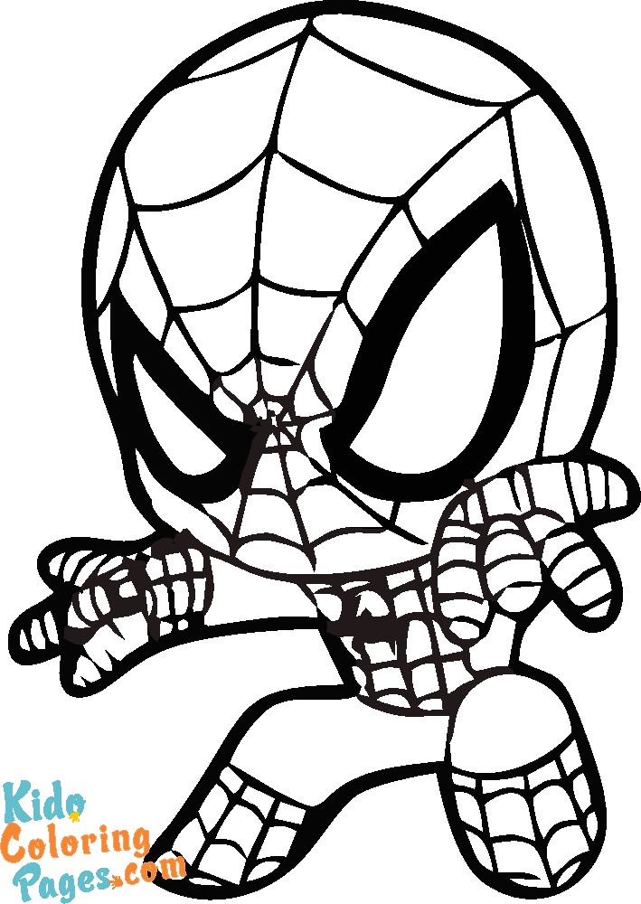 cute baby spiderman coloring pages