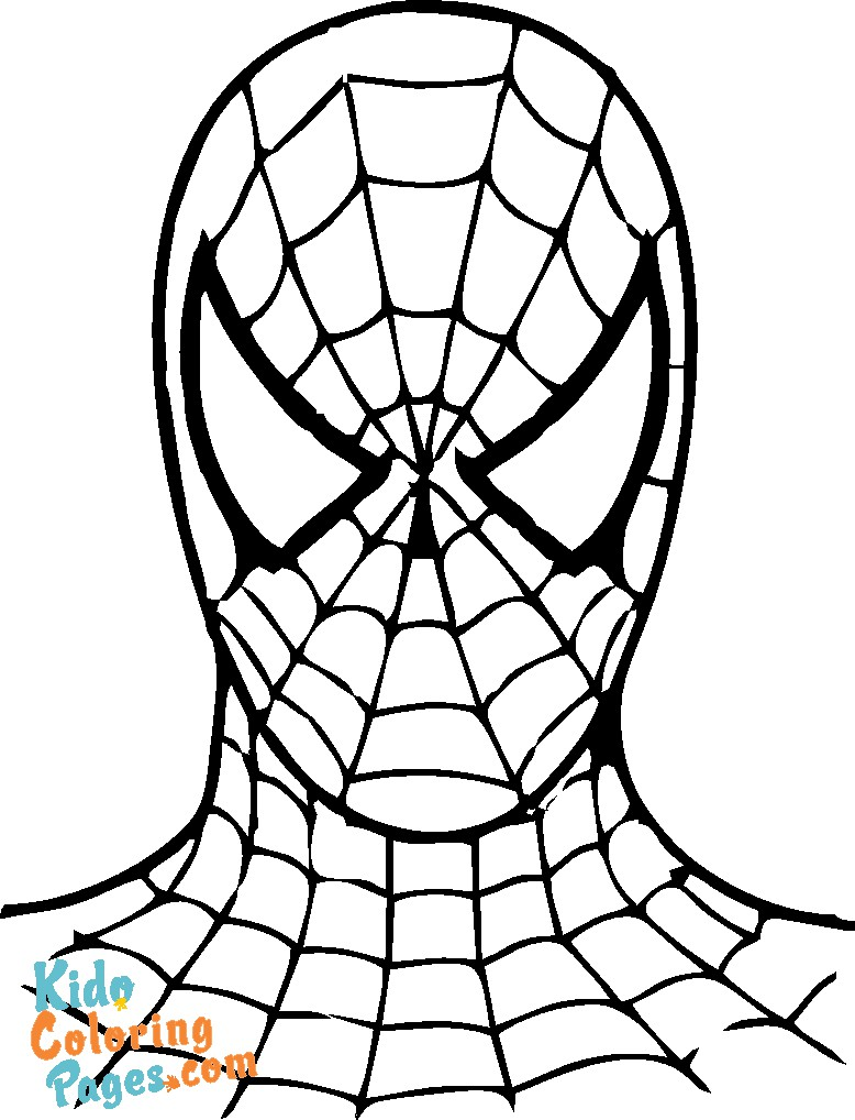kids coloring pages spiderman superhero to print out