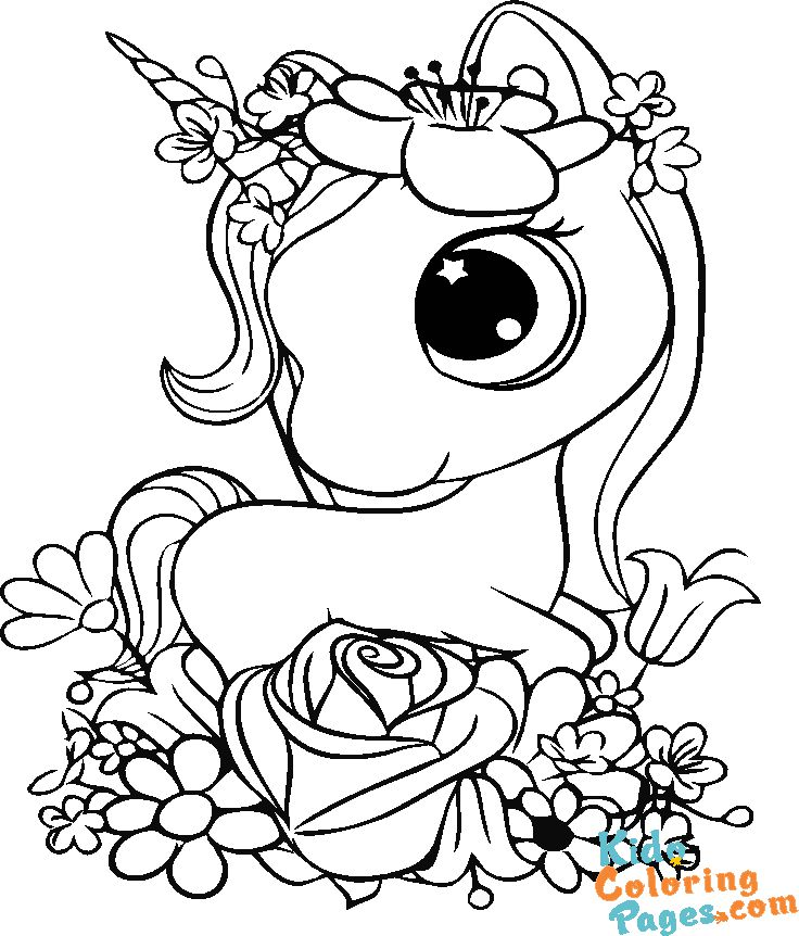 picture of unicorn to print and colour