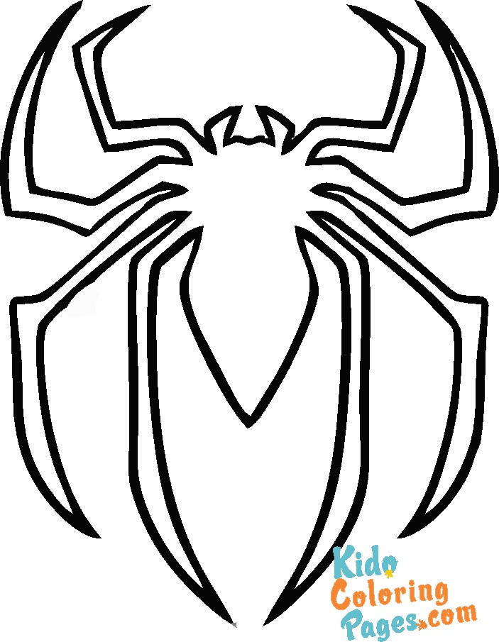 spiderman logo coloring in pages to print
