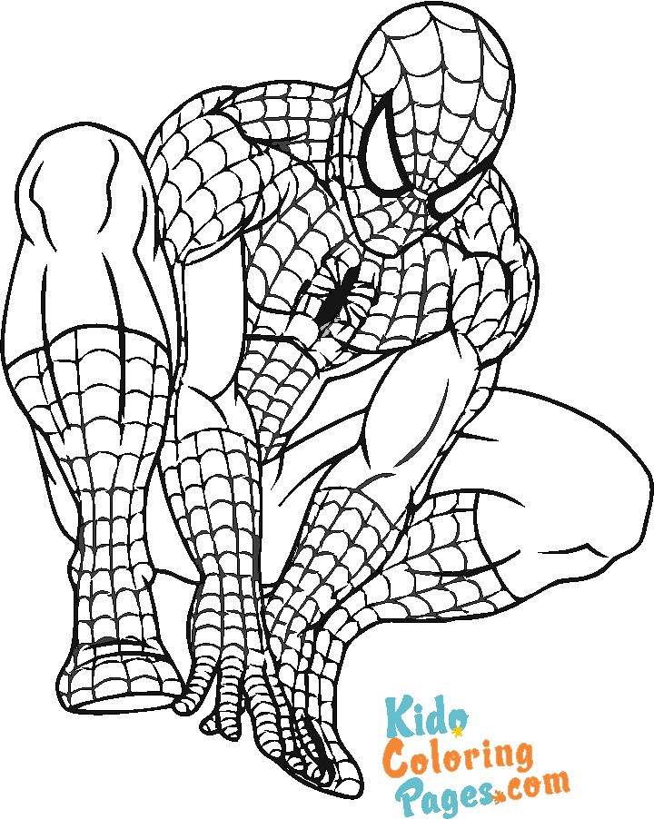 spiderman pages to color for kids to print out
