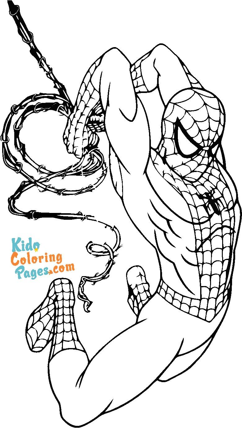 superhero spiderman coloring sheets to print