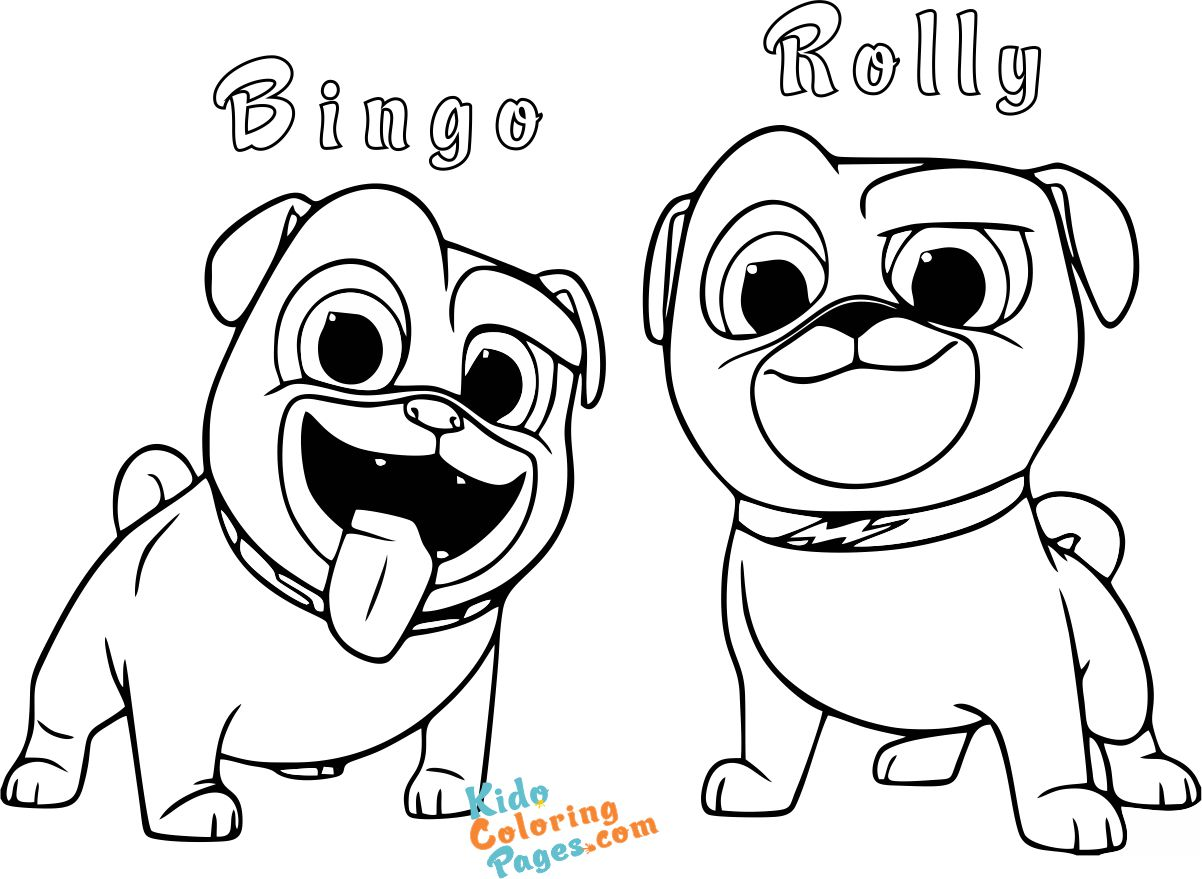 Bingo and Rolly Puppy-Dog Pals Pages to color