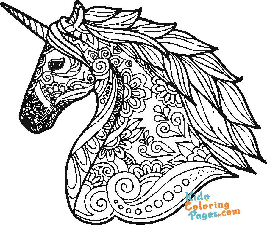 coloring pages unicorn for adults