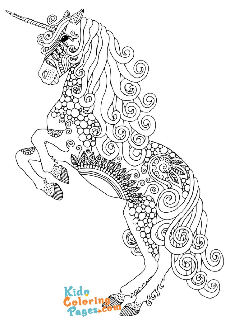 unicorn coloring pages for adults to print