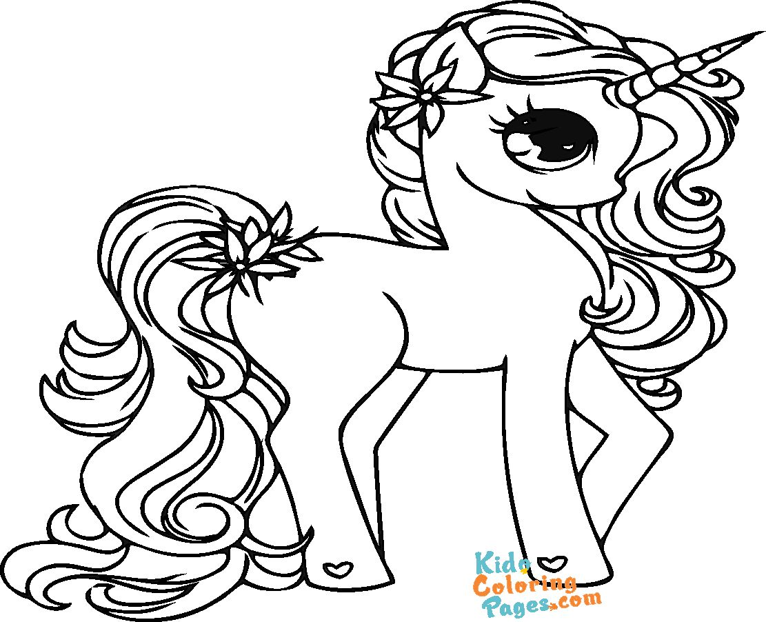 unicorn girl coloring pictures to printable