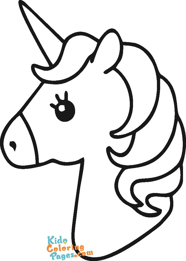 unicorn pictures to color easy to print out for kids