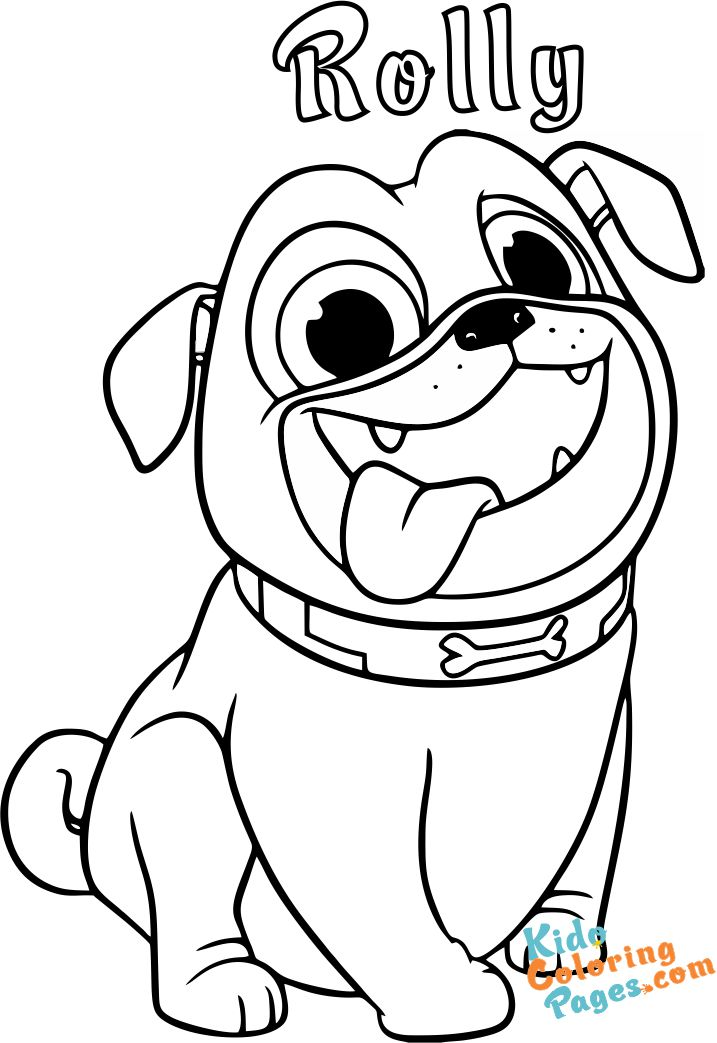 Puppy dog pals rolly coloring pages printable for kids